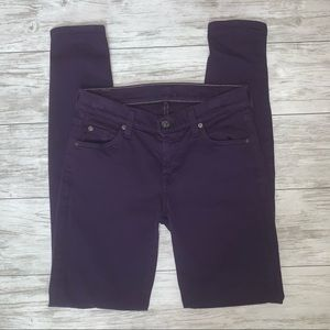 7 for all mankind Purple The Skinny Jeans 26